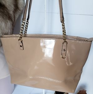 Michael kors nude patent leather tote NWOT 15 X 8